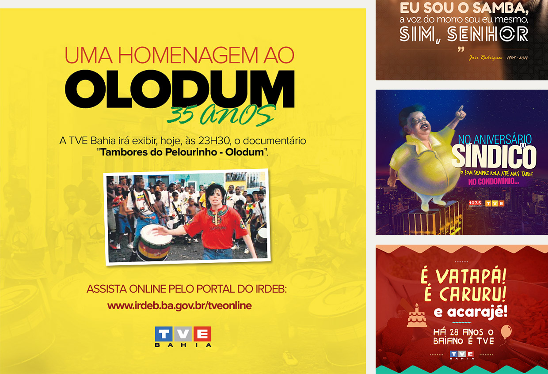Social media TVE Bahia e Educadora FM